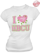 Alpha Kappa Alpha I Heart My HBCU T-Shirt, White - EMBROIDERED with Lifetime Guarantee