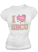 Alpha Kappa Alpha I Heart My HBCU Screen Printed T-Shirt, White