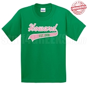 AKA Founding School T-Shirt, Kelly - EMBROIDERED with Lifetime Guarantee