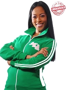 Alpha Kappa Alpha Logo Letter  Unisex Track Jacket, Kelly Green  - EMBROIDERED WITH LIFETIME GUARANTEE (1S)