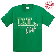 Tail Club T-Shirt, Kelly/Pink - EMBROIDERED with Lifetime Guarantee