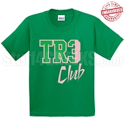 Tre Club T-Shirt, Kelly/Pink - EMBROIDERED with Lifetime Guarantee