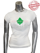 Alpha Kappa Alpha Tweet Team T-Shirt, White - EMBROIDERED with Lifetime Guarantee