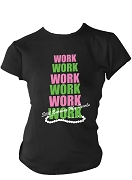 Alpha Kappa Alpha Work Screen Printed T-Shirt, Black