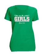 Alpha Kappa Alpha Girls Run The World Screen Printed T-Shirt, Kelly Green