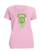 Alpha Kappa Alpha School Daze Screen Printed T-Shirt, Pink