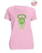Alpha Kappa Alpha School Daze T-Shirt, Pink - EMBROIDERED with Lifetime Guarantee