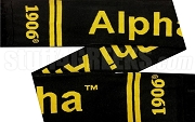 Alpha Phi Alpha Scarf with Organization Name, Black
