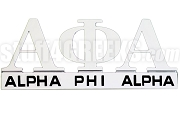Alpha Phi Alpha Chrome Greek Letters Car Decal (NS)