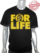 Alpha Phi Alpha FOR LIFE Black T-Shirt - EMBROIDERED with Lifetime Guarantee