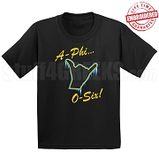 Frozen Alpha Hand Black T-Shirt - EMBROIDERED with Lifetime Guarantee
