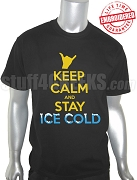 Alpha Phi Alpha Keep Calm Black T-Shirt - EMBROIDERED with Lifetime Guarantee