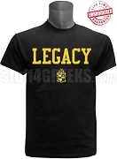 Alpha Phi Alpha Legacy T-Shirt, Black - EMBROIDERED with Lifetime Guarantee