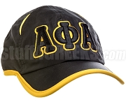 Alpha Phi Alpha Greek Letter Featherlight Golf Cap, Black (SAV-8FL)