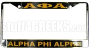 Alpha Phi Alpha Greek Letter License Plate Frame - Alpha Phi Alpha Greek Letter Car Tag (CQ)