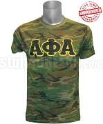 Alpha Phi Alpha Greek Letter Camouflage T-Shirt - EMBROIDERED with Lifetime Guarantee