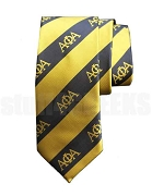 Alpha Phi Alpha Diagonal Stripe Necktie, Black/Old Gold