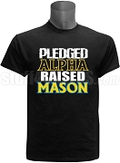 Alpha Phi Alpha Raised Mason Screen Printed T-Shirt, Black