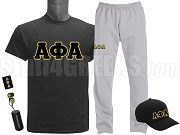 Alpha Phi Alpha Sports Package - INCLUDES ATHLETIC PANTS, PERFORMANCE SHIRT, LIGHTWEIGHT HAT & WATER BOTTLE