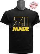 Alpha Phi Alpha Zeta Mu Chapter Made T-Shirt, Black - EMBROIDERED with Lifetime Guarantee