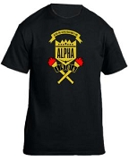 Alpha Phi Alpha School Daze Screen Printed T-Shirt, Black