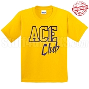 Ace Club T-Shirt, Gold/Royal - EMBROIDERED with Lifetime Guarantee