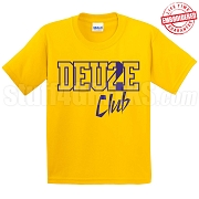 Deuce Club T-Shirt, Gold/Royal - EMBROIDERED with Lifetime Guarantee