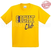8/Eight Club T-Shirt, Gold/Royal - EMBROIDERED with Lifetime Guarantee