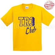 Tre Club T-Shirt, Gold/Royal - EMBROIDERED with Lifetime Guarantee