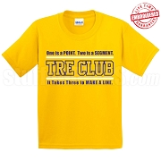 Tre Club (Gen1) T-Shirt, Gold/Royal - EMBROIDERED with Lifetime Guarantee
