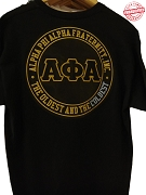Alpha Phi Alpha Oldest and Coldest Black T-Shirt - EMBROIDERED with Lifetime Guarantee