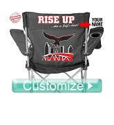 Atlanta Football Lawn Chair, Black – EMBROIDERED WITH LIFETIME GUARANTEE