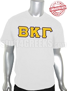 Beta Kappa Gamma Greek Letter T-Shirt, White - EMBROIDERED with Lifetime Guarantee