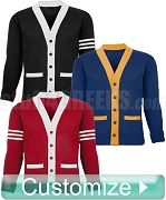 Blank Custom Color Varsity Cardigan (RN-SW110 )