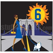 Sigma Gamma Rho Brooklyn Woman Walking Poodle Patch