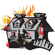 Burning Fraternity House Patch