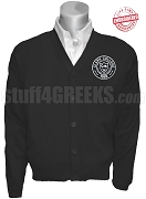 Clark College Logo Cardigan, Black - EMBROIDERED with Lifetime Guarantee