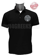 Clark College Men's Polo with Logo, Black - EMBROIDERED with Lifetime Guarantee
