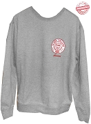 Clark College Crewneck Sweatshirt with Logo, Grey - EMBROIDERED with Lifetime Guarantee
