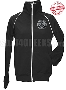 Clark College Ladies' Logo Track Jacket, Black - EMBROIDERED with Lifetime Guarantee