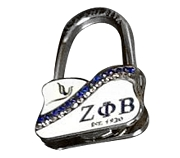Zeta Phi Beta Compact Purse Hanger