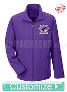 Custom Men's Soft Shell Front Zip Jacket