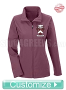 Custom Women's Soft Shell Front Zip Jacket