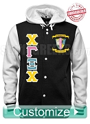 Custom Chi Gamma Xi Chi Cloth Varsity Letterman Jacket