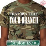 Custom Military T-Shirts - EMBROIDERED with Lifetime Guarantee