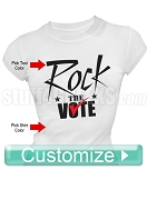 Custom Rock The Vote Screen Printed Election T-Shirt