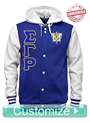 Custom Women's Greek Cloth Varsity Letterman Jacket