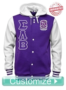 Custom Men's Greek Cloth Varsity Letterman Jacket
