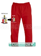 Custom Greek Screen Printed Sweatpants with Icon - ANY ORGANIZATION AVAILABLE (AB)
