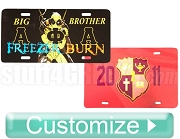 Custom Full-Color Dye-Sublimated License Plate with Your Design